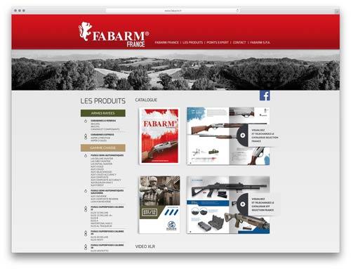 costruzione siti internet brescia - sito web fabarm france