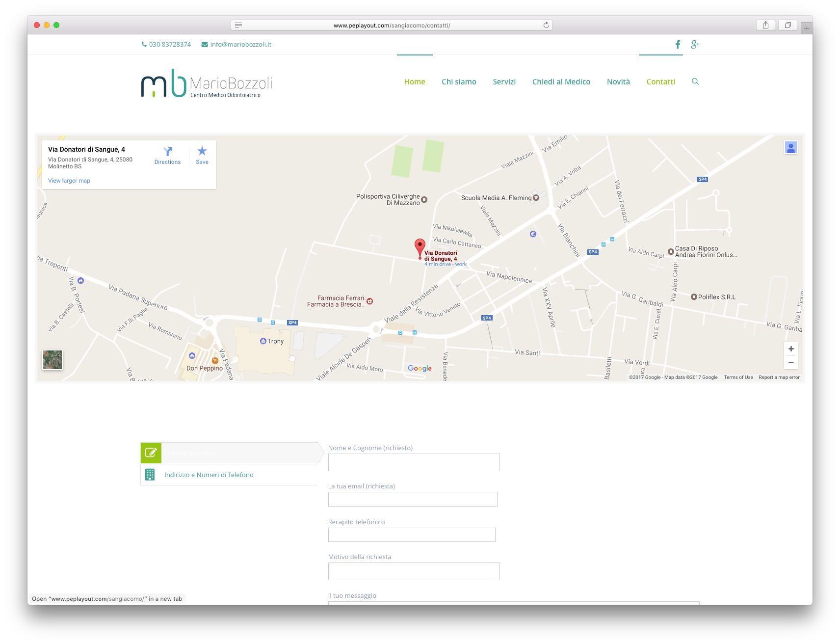 Realizzazione sito web brescia