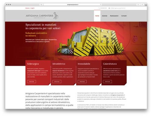Siti Web Brescia - Sito Web Artigiana Carpenterie