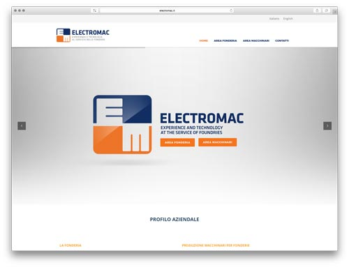 Progettazione Siti Internet Brescia - Sito Web Elctromac