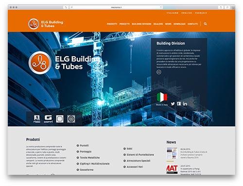 Progettazione siti web brescia - sito web elg building