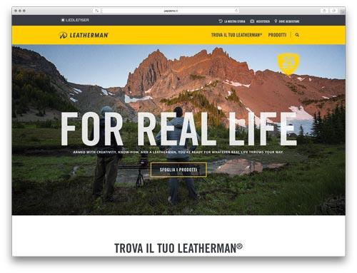creazionesiti webBrescia - sito web Leatherman