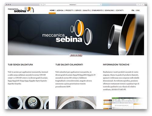 Progettazione Siti Web Brescia - Sito Web Meccanica Sebina