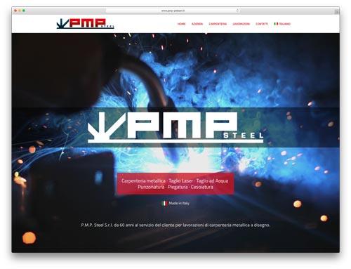 Progettazione Siti Internet Brescia - Sito Web PMP Steel
