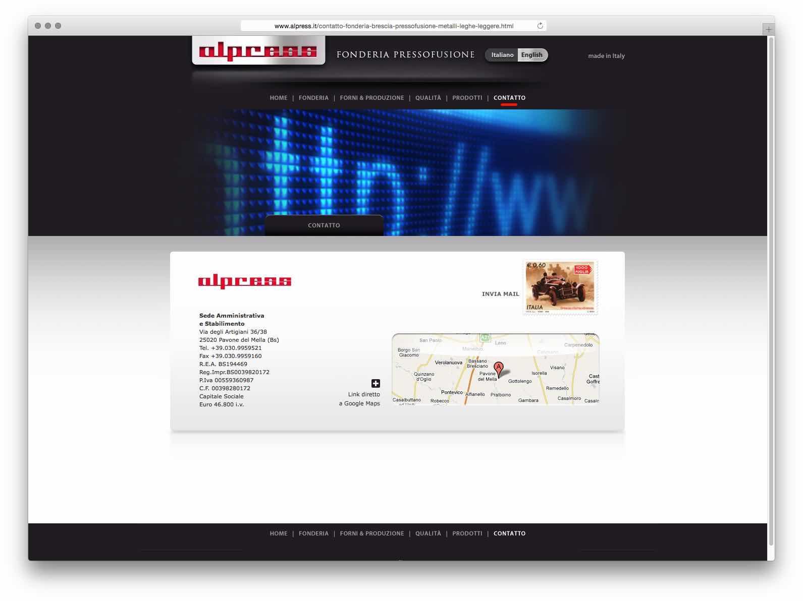 creazione siti web brescia - sito web alpress
