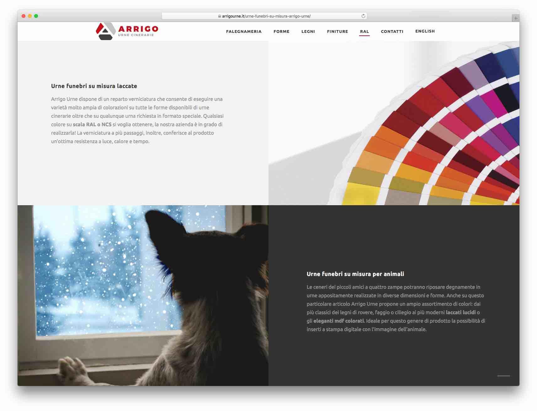 creazione siti web brescia - sito web arrigo urne