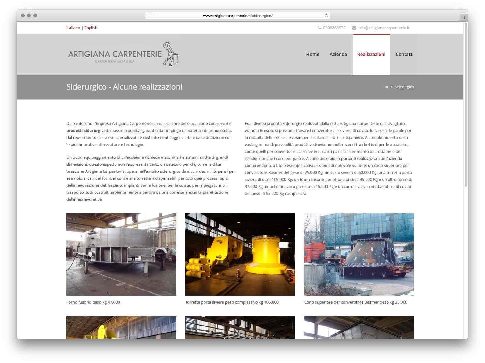 Creazione Siti Web Brescia - Sito Web Artigiana Carpenterie