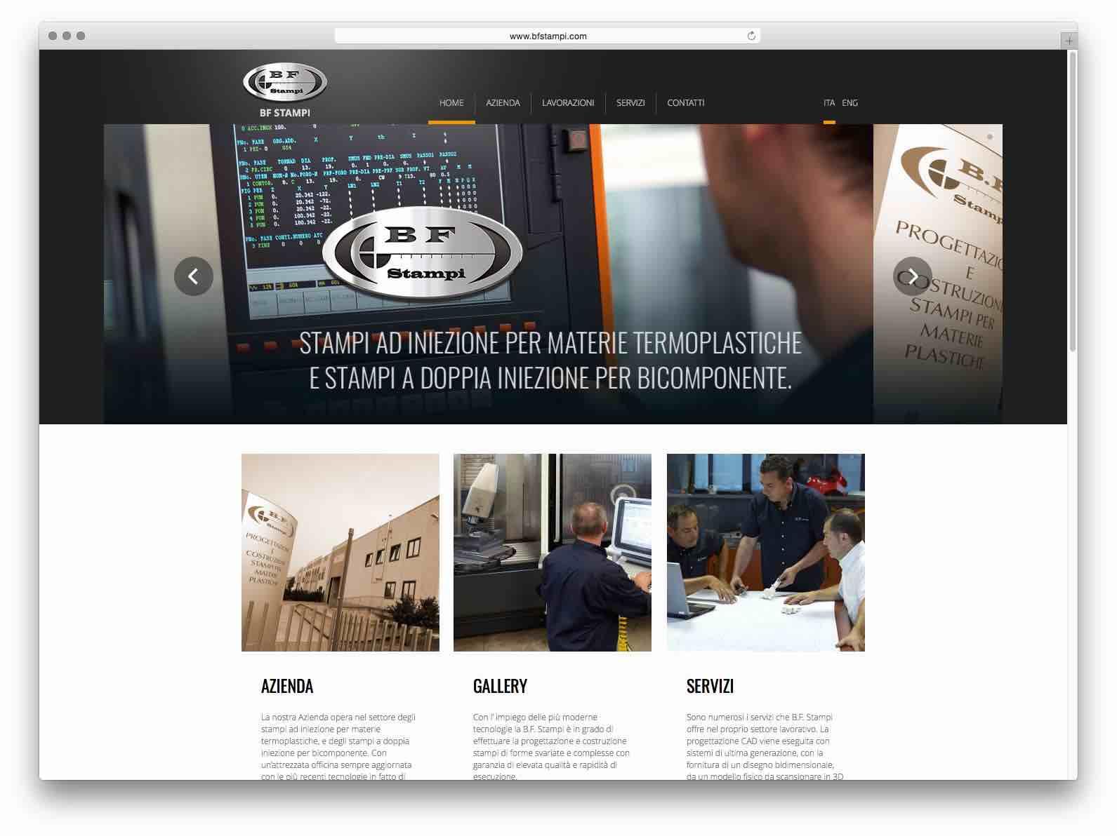 Creazione Siti Web Brescia - Sito Web BF Stampi