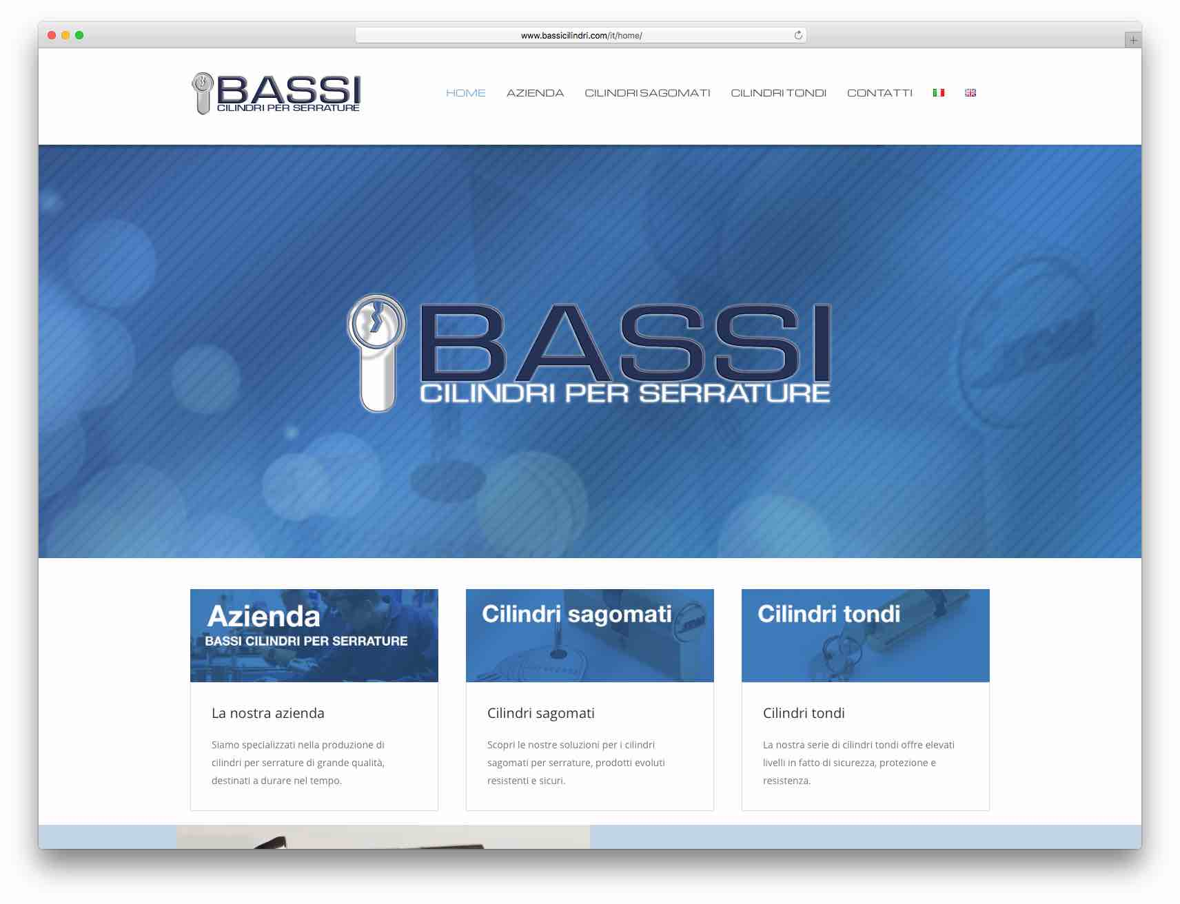 Creazione Siti Web Brescia - Sito Web Bassi Cilindri
