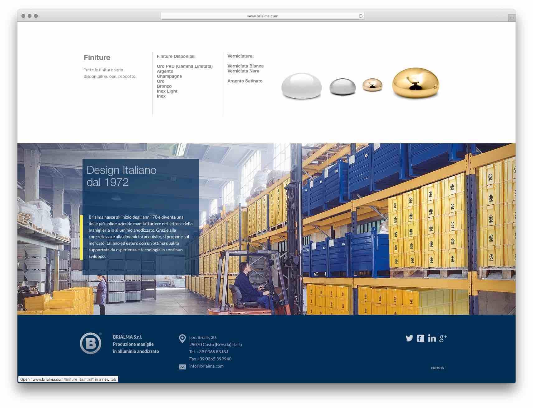 creazione siti web Brescia - sito web Brialma