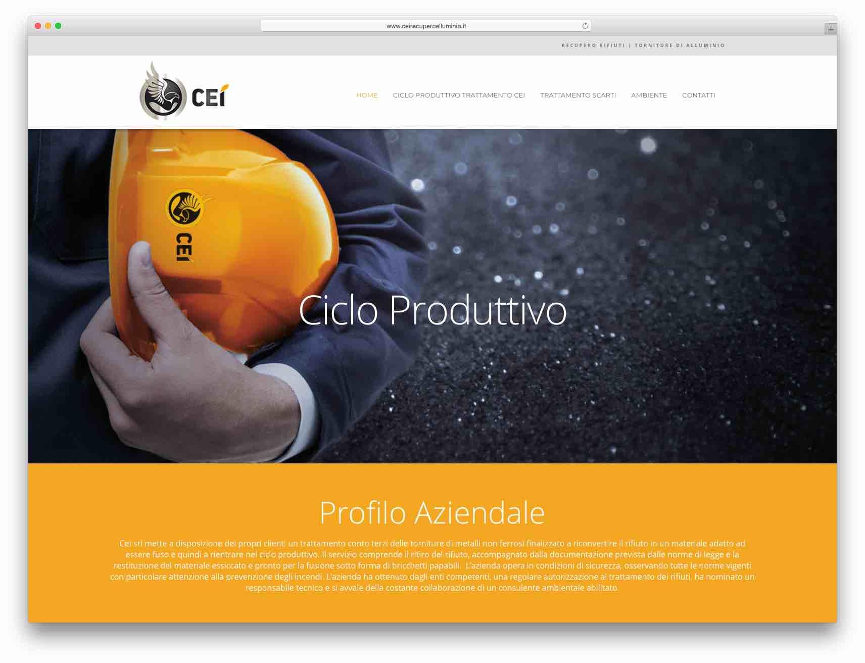 Creazione Siti Web Brescia - Sito Web Cei Recupero Alluminio