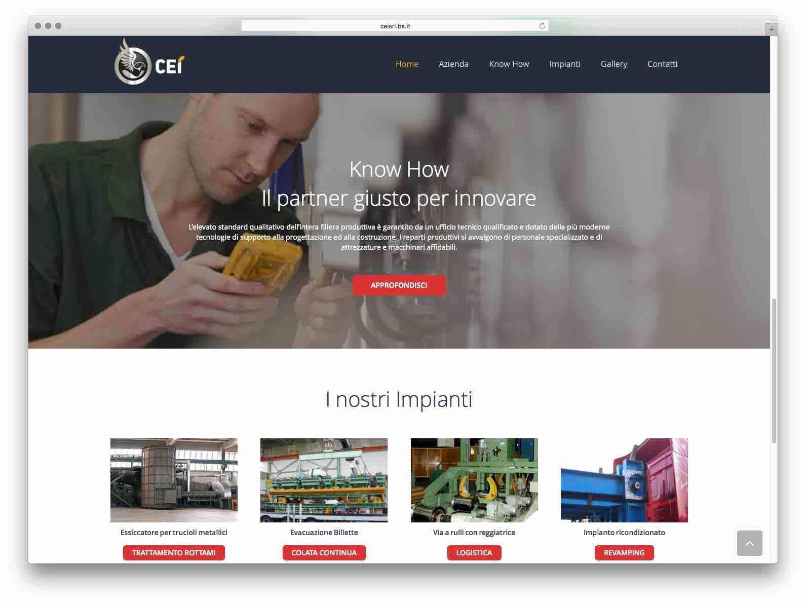 creazione siti web brescia - sito web cei