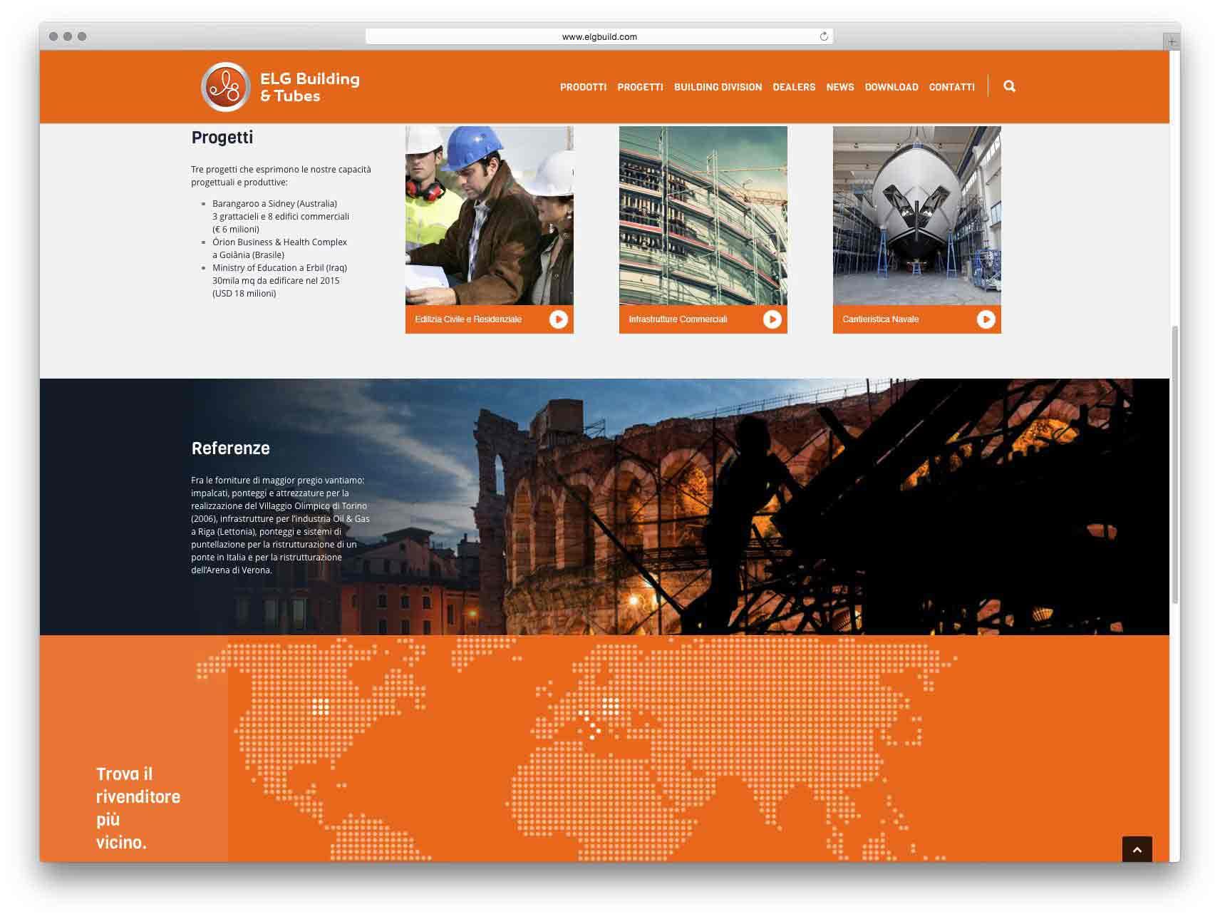 creazione siti web brescia - sito web elg building