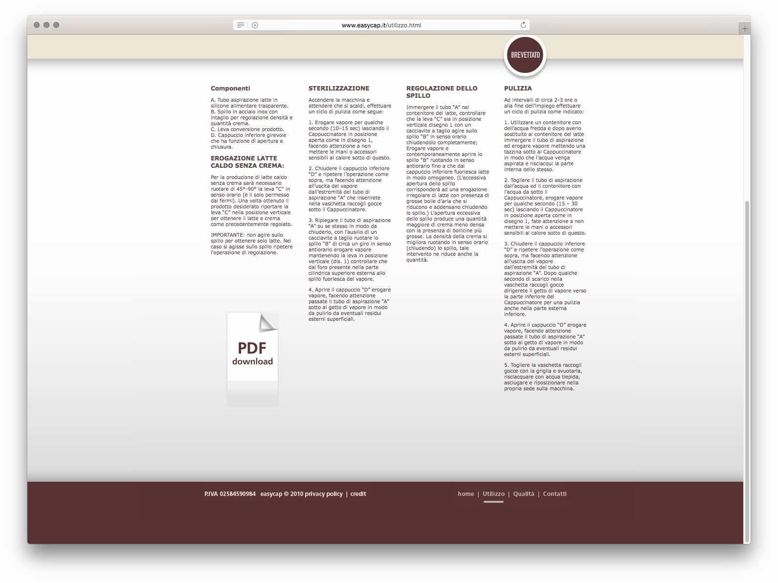 Creazione Siti Web Brescia - Sito Web Easycap