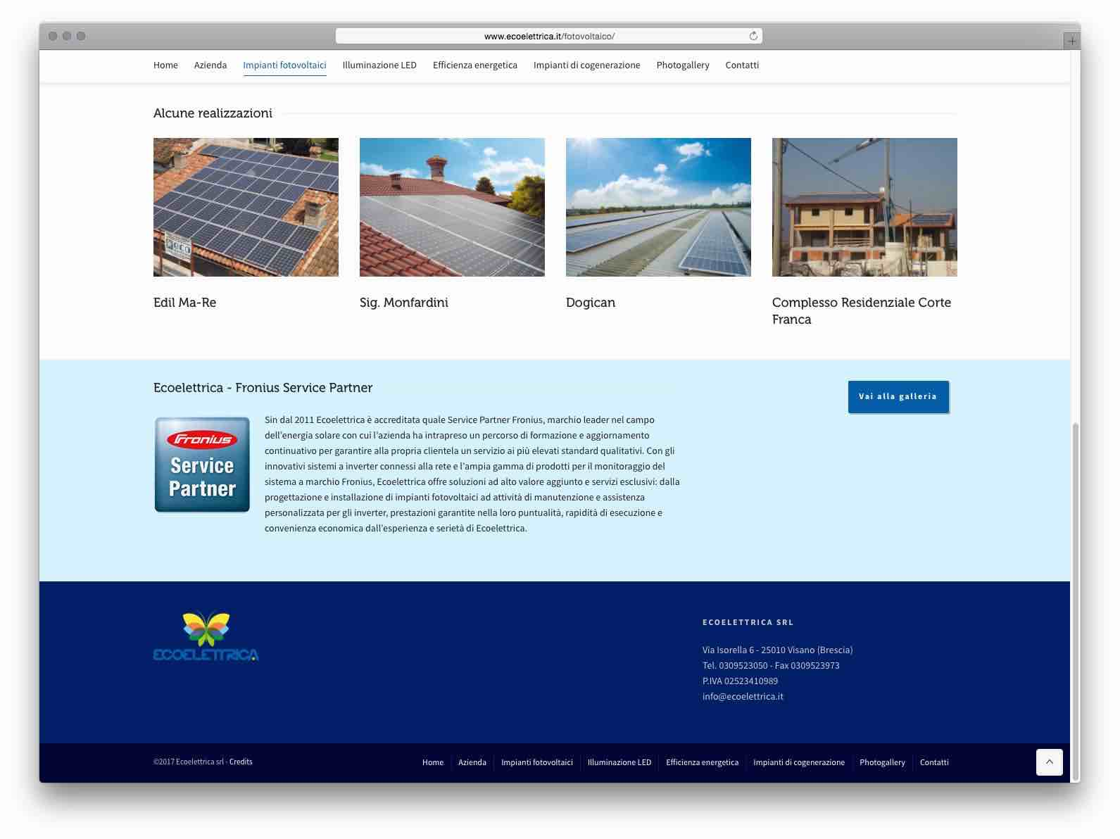 Creazione Siti Web Brescia - Sito Web Ecoelettrica