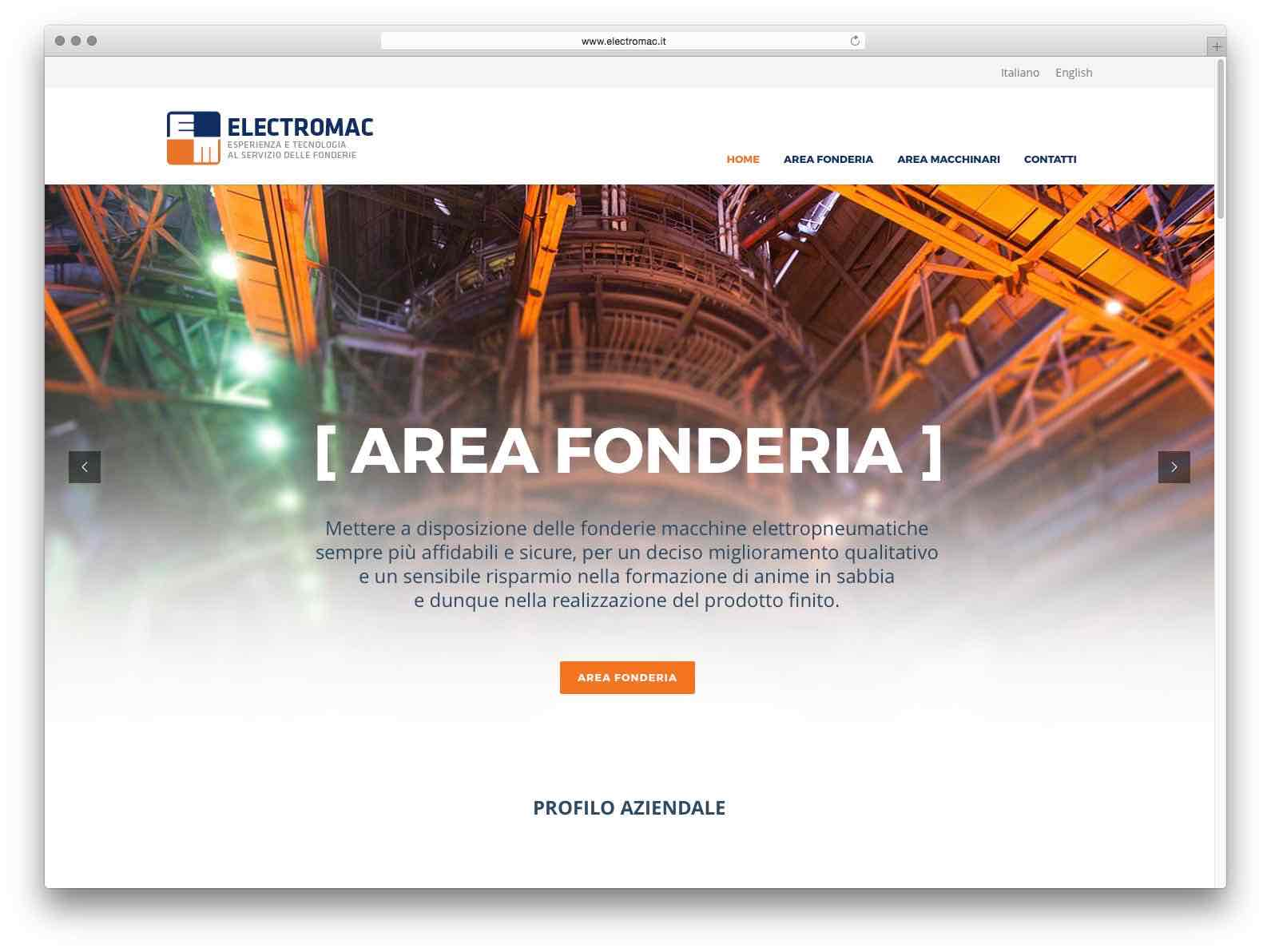 Creazione Siti Web Brescia - Sito Web Elctromac