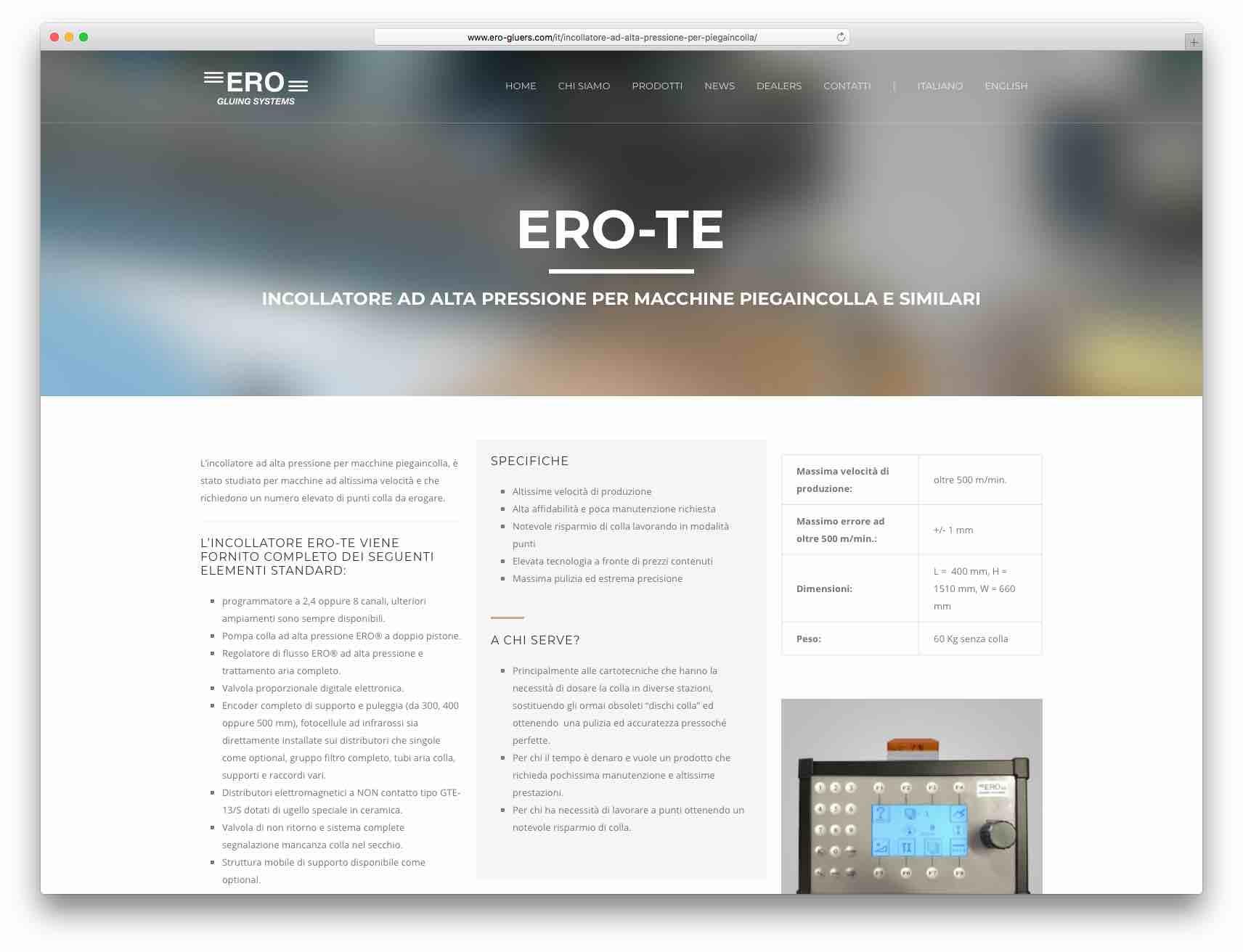 Creazione Siti Web Brescia - Sito Web ERO