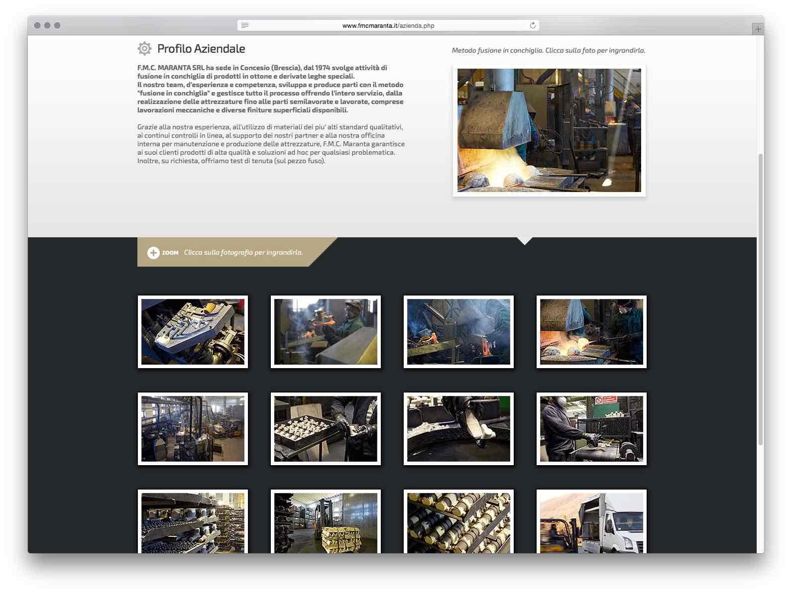 Creazione Siti Web Brescia - Sito Web FMC Maranta