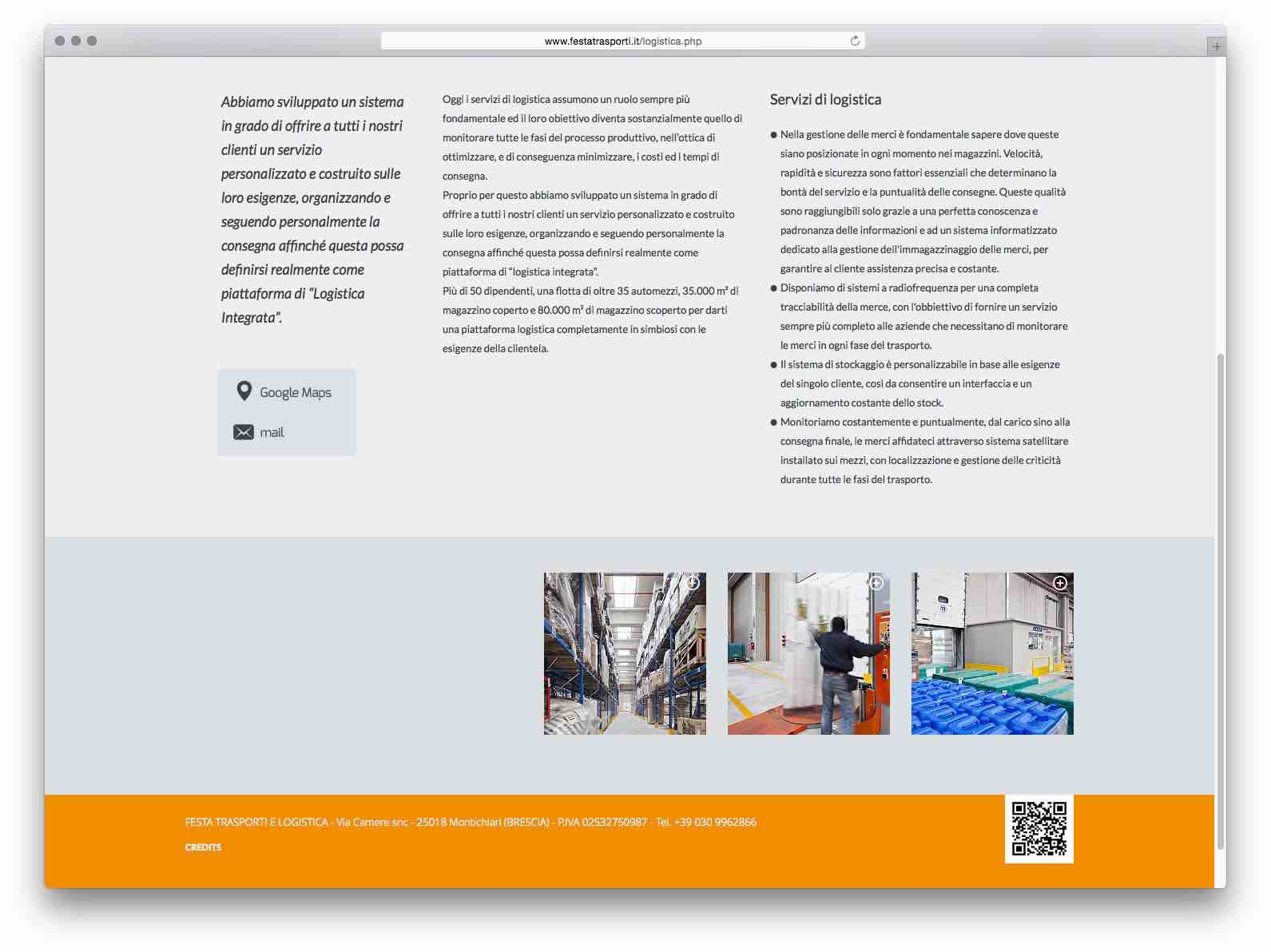 Creazione Siti Web Brescia - Sito Web Festa Trasporti