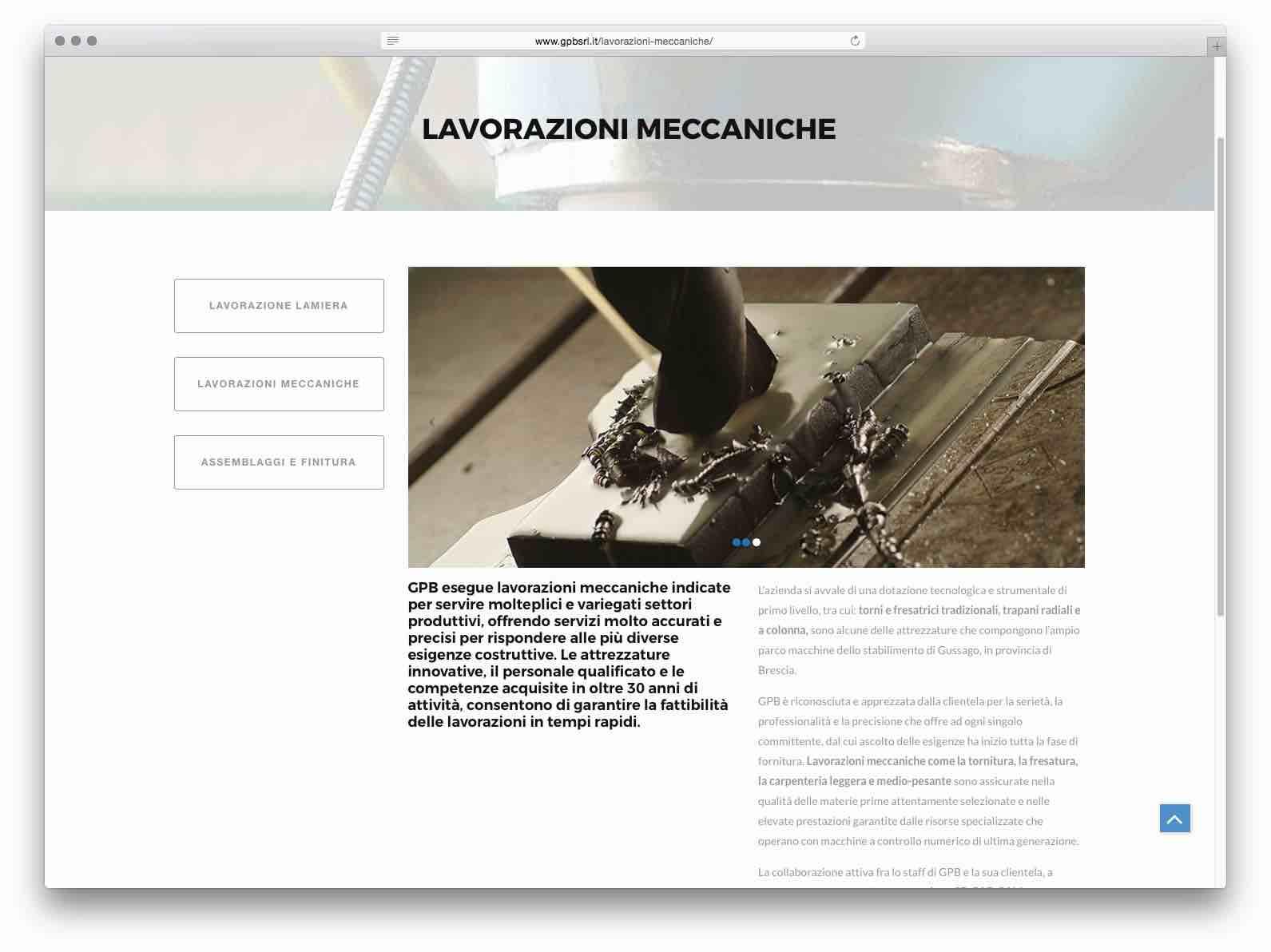 Creazione Siti Web Brescia - Sito Web GPB