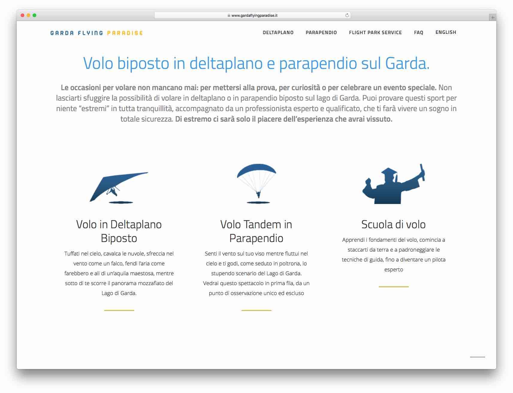 creazione siti web brescia - Sito Web Garda Flying Paradise