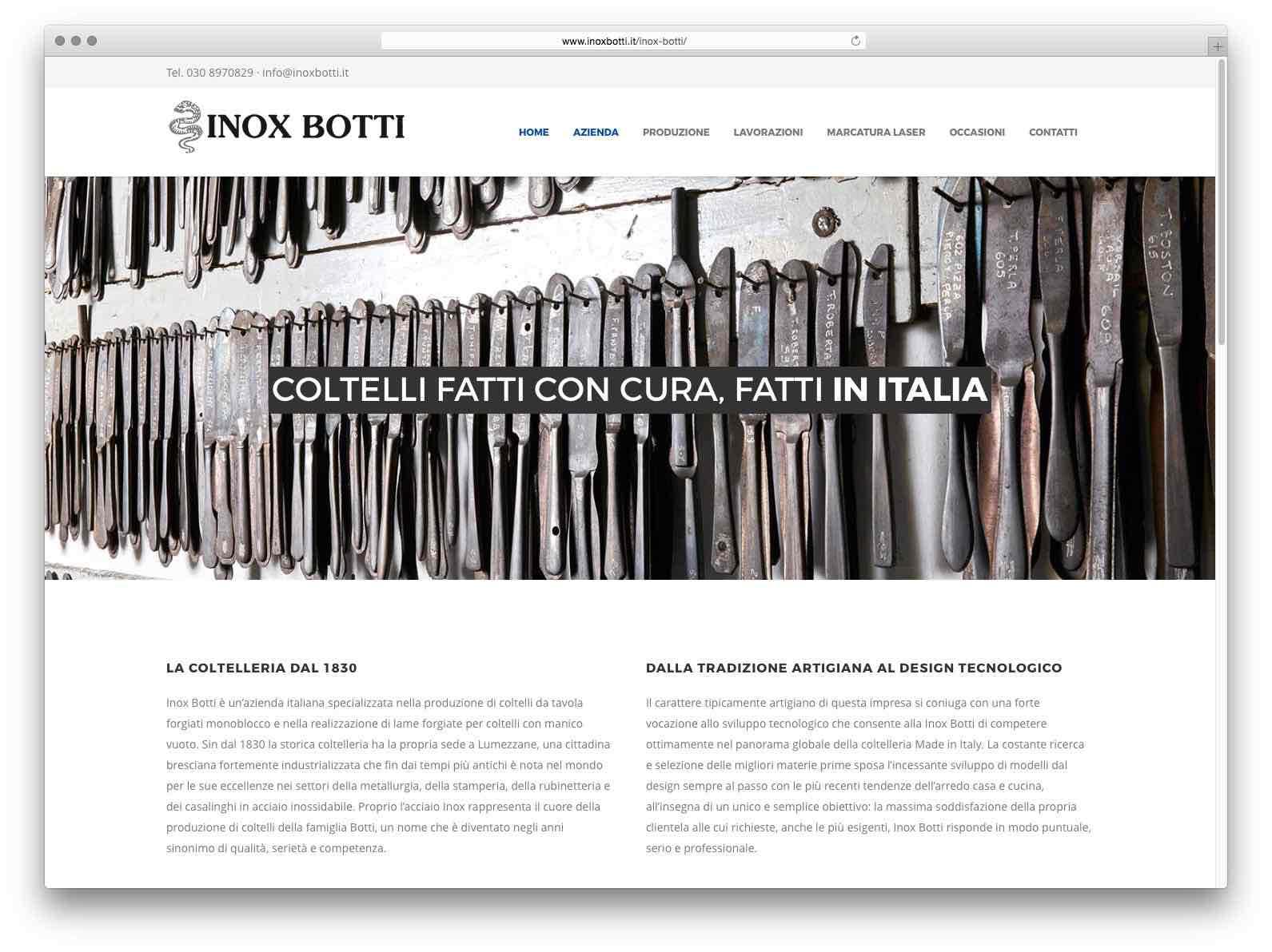 Creazione Siti Web Brescia - Sito Web Inox Botti