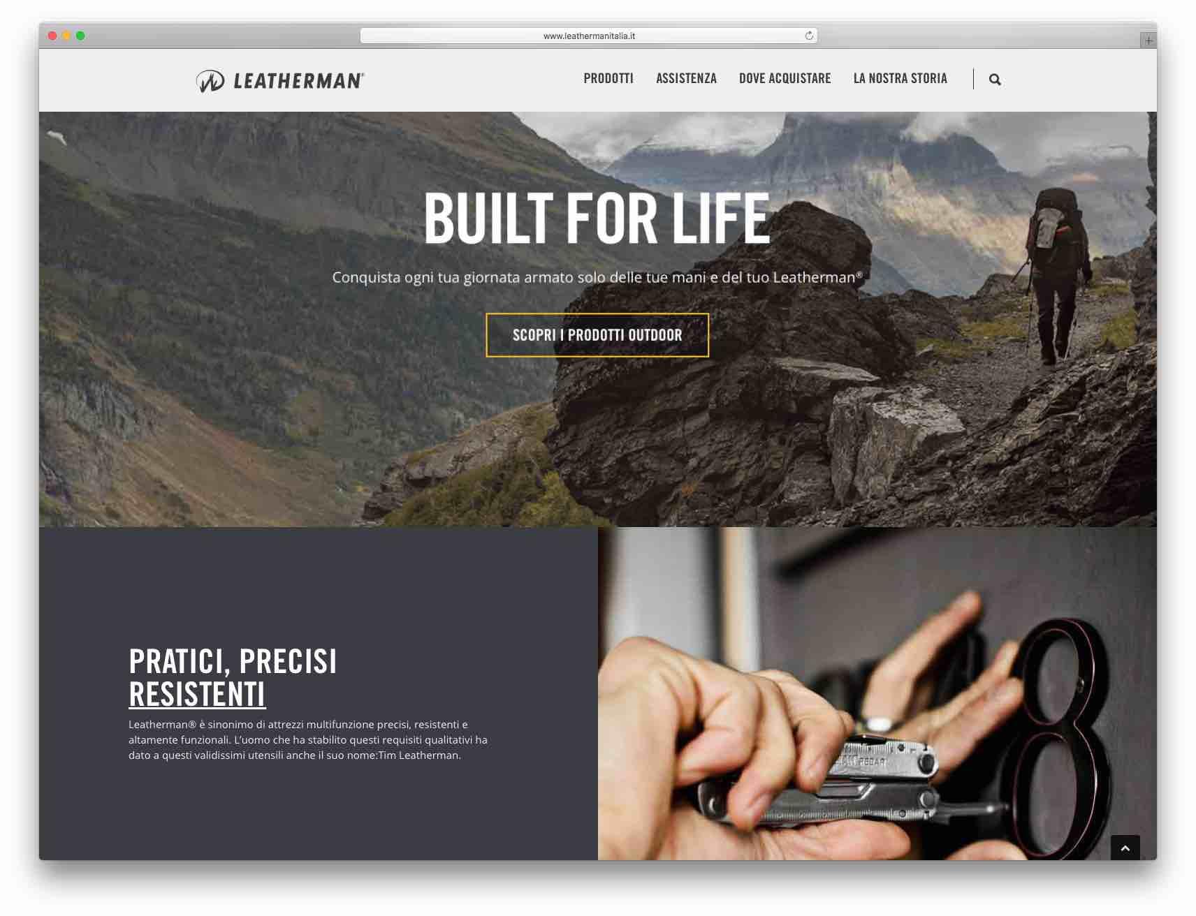 creazione siti web brescia - sito web leatherman