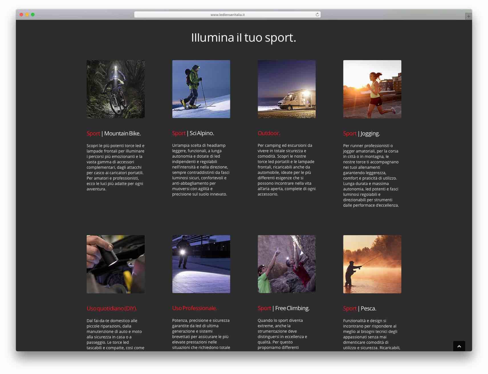 creazione siti web brescia - sito web ledlenser