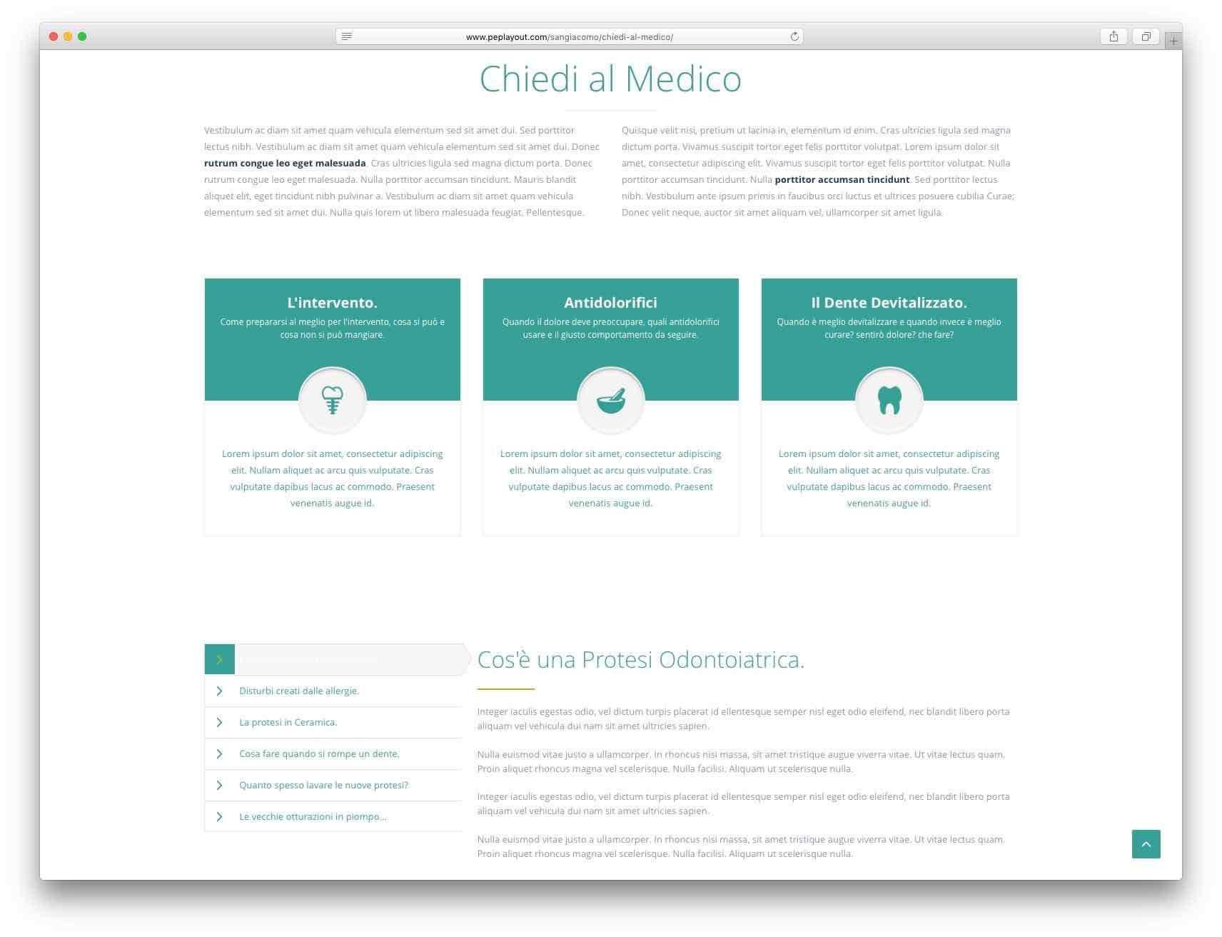 creazione siti web Brescia - sito web centro medico mario bozzoli
