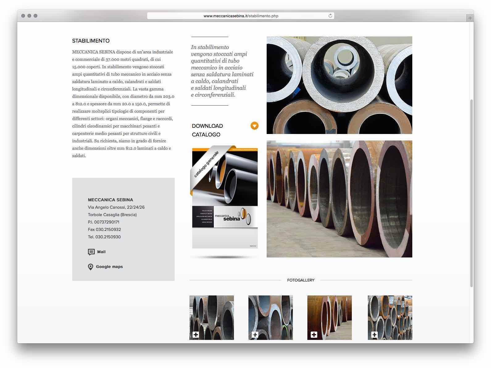 Creazione Siti Web Brescia - Sito Web Meccanica Sebina