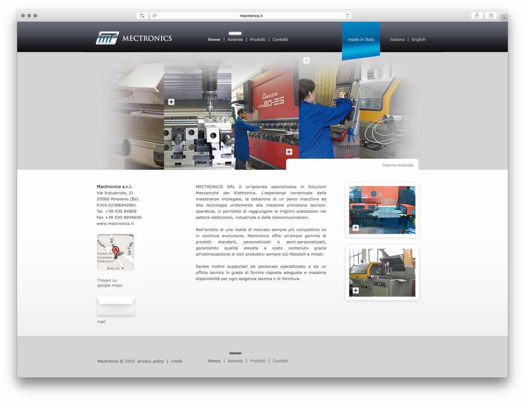 Creazione Siti Web Brescia - Sito Web Mectronics
