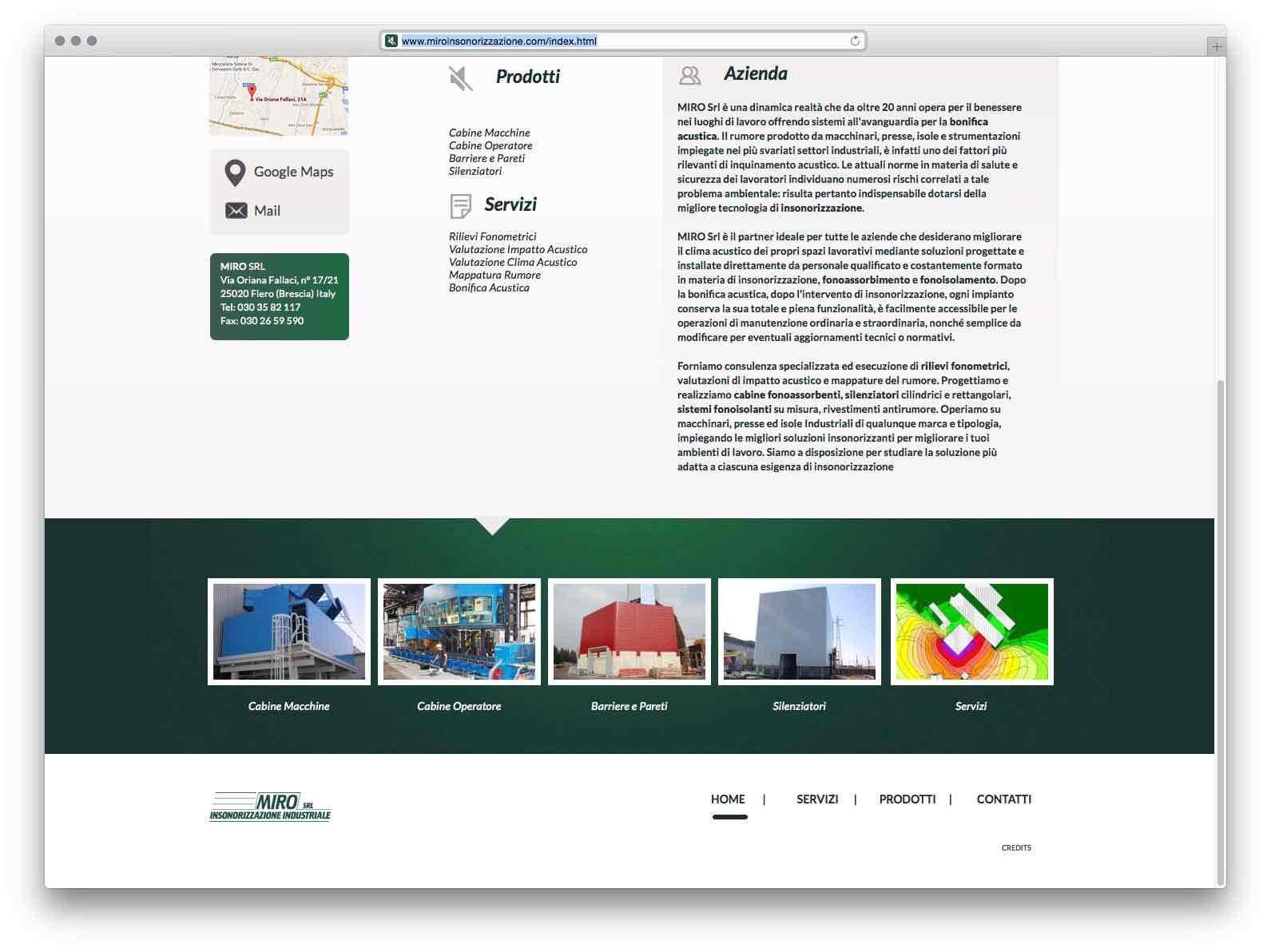 Creazione Siti Web Brescia - Sito Web Miro Insonorizzazione