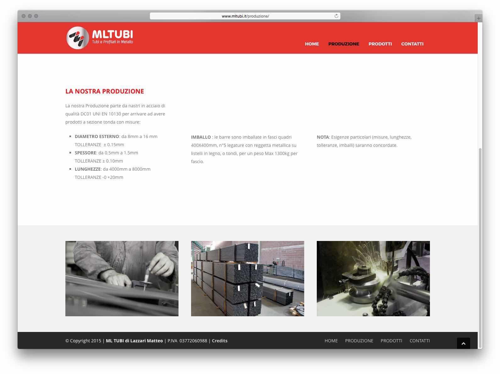 Creazione Siti Web Brescia - Sito Web ML Tubi