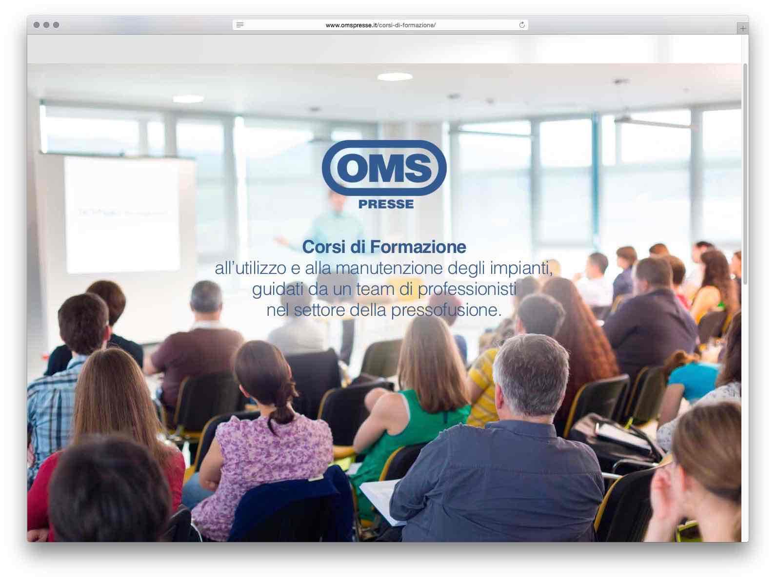 creazione siti web brescia - sito web oms presse
