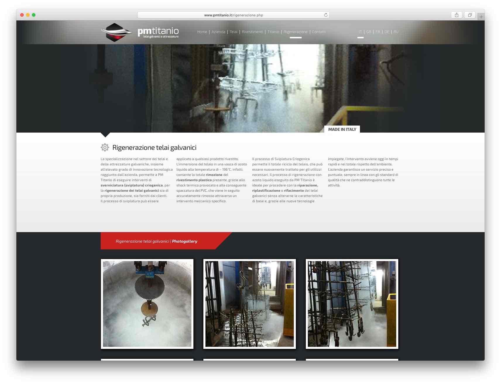 Creazione Siti Web Brescia - Sito Web PM Titanio
