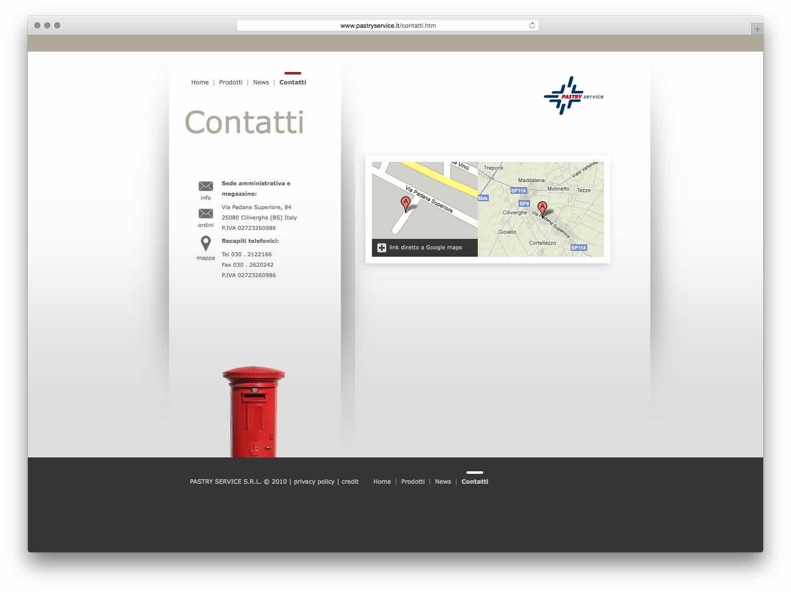 Creazione Siti Web Brescia - Sito Web Pastry Service