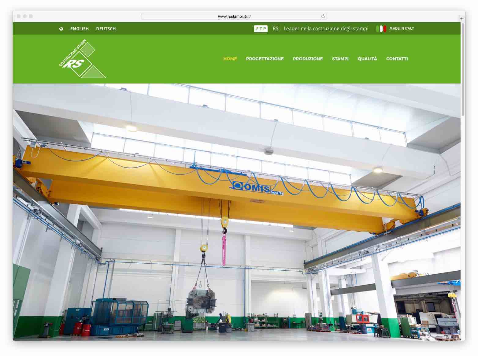 creazione siti web brescia - sito web rs stampi