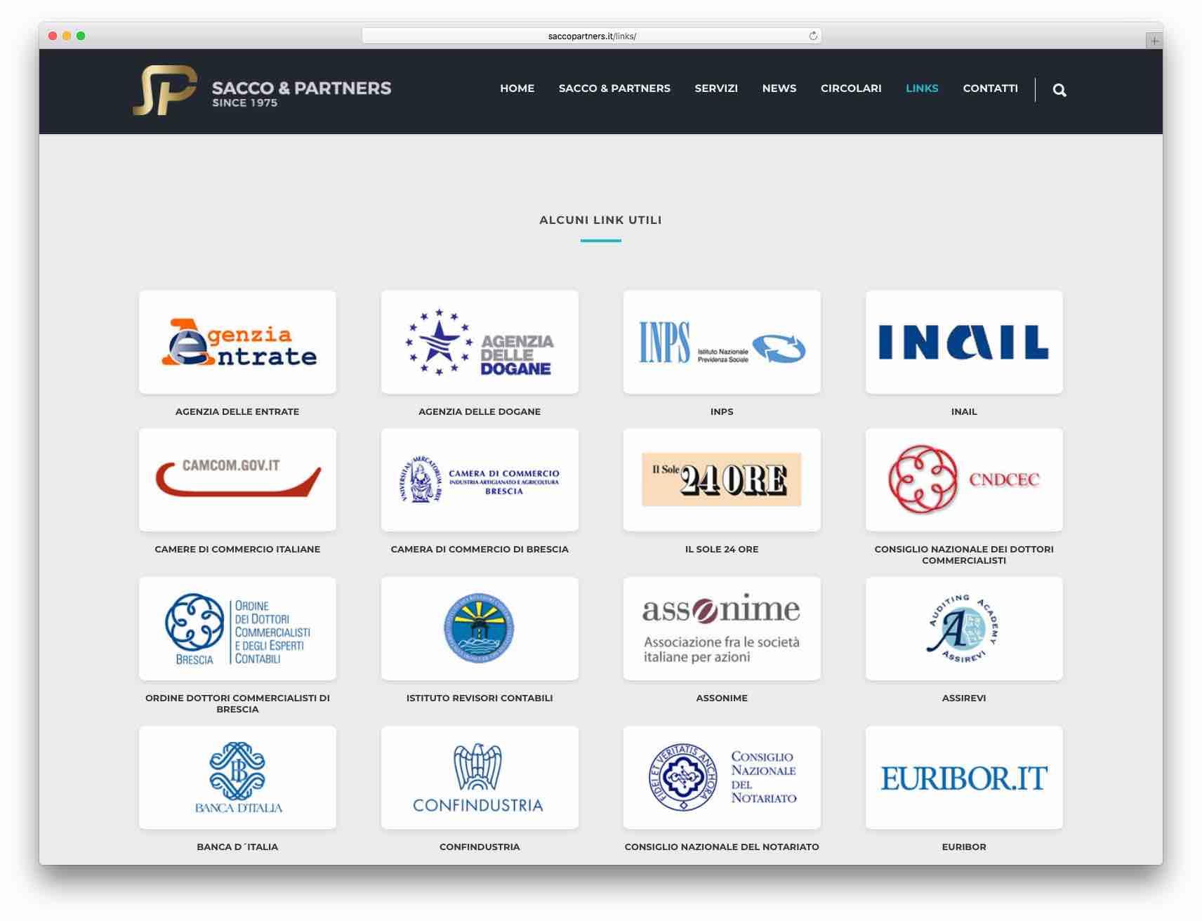 creazione siti web brescia - Sito Web Sacco & Partners
