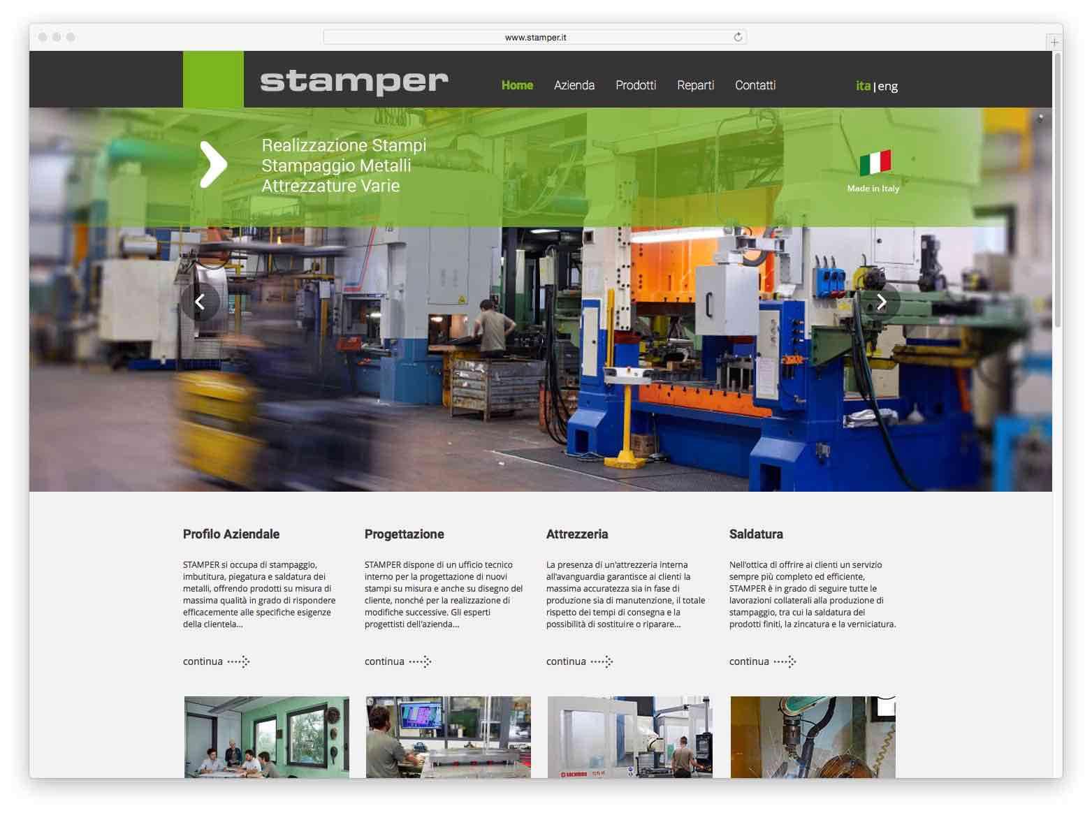 Creazione Siti Web Brescia - Sito Web Stamper