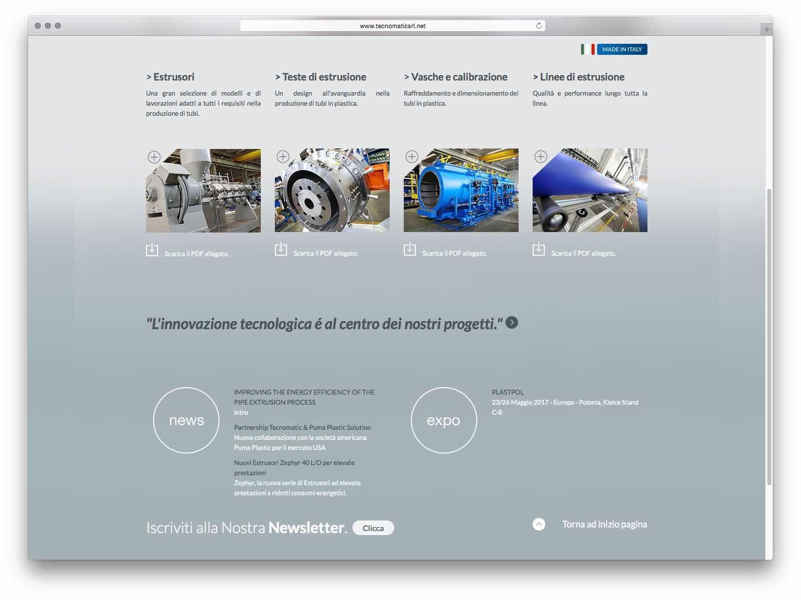 Creazione Siti Web Brescia - Sito Web Tecnomatic