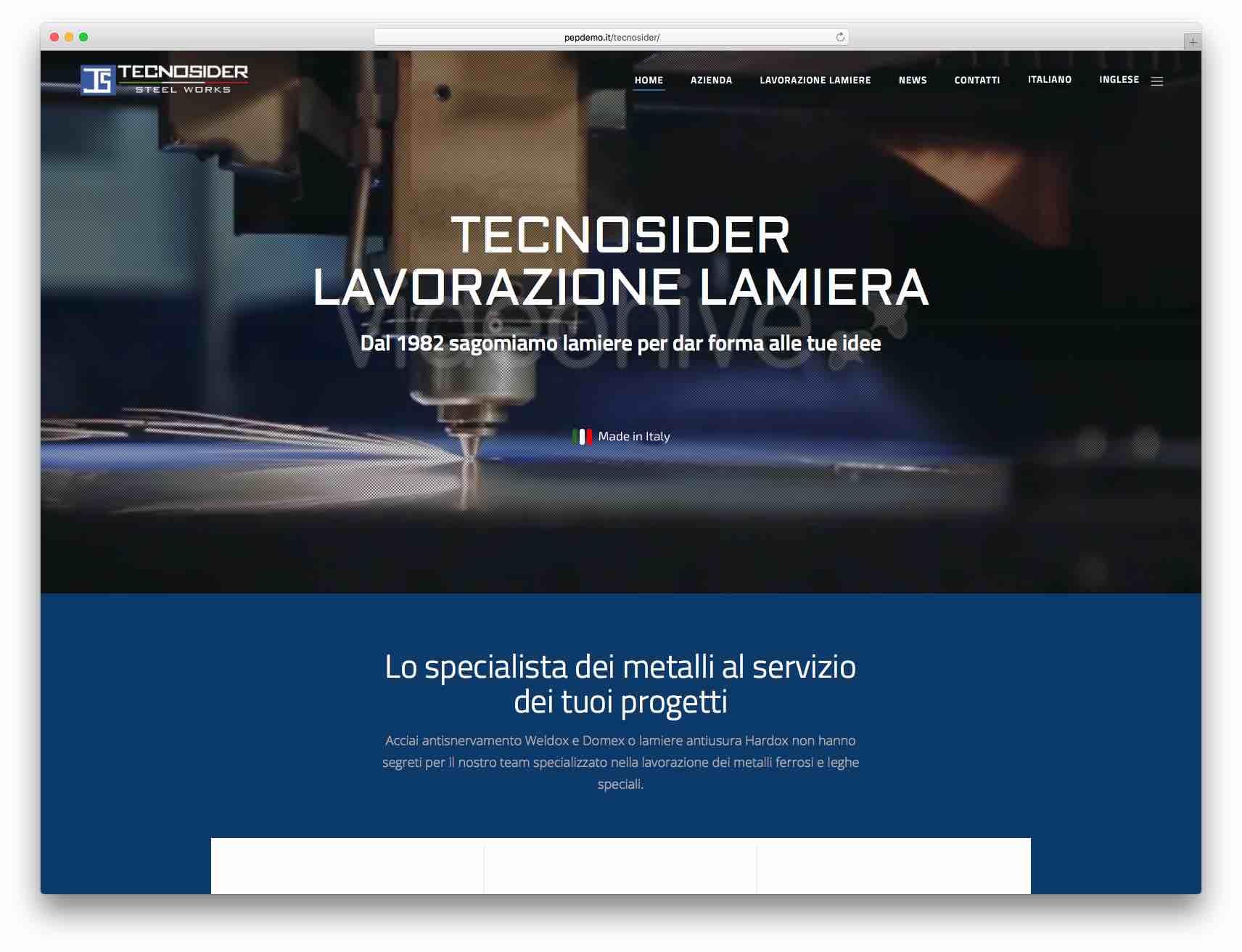 Creazione Siti Web Brescia - Sito Web Tecnosider