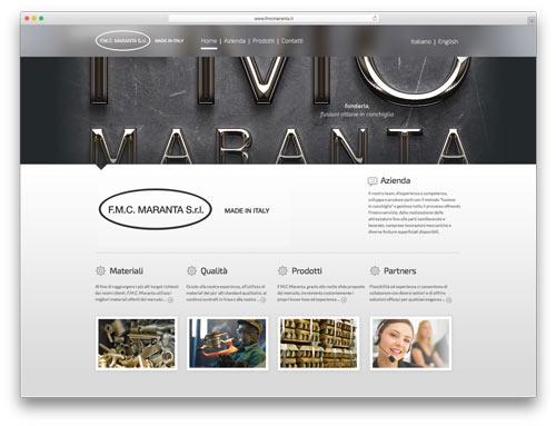Realizzazione Siti Web Brescia - Sito Web FMC Maranta