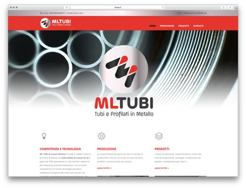 Realizzazione Siti Web Brescia - Sito Web ML Tubi