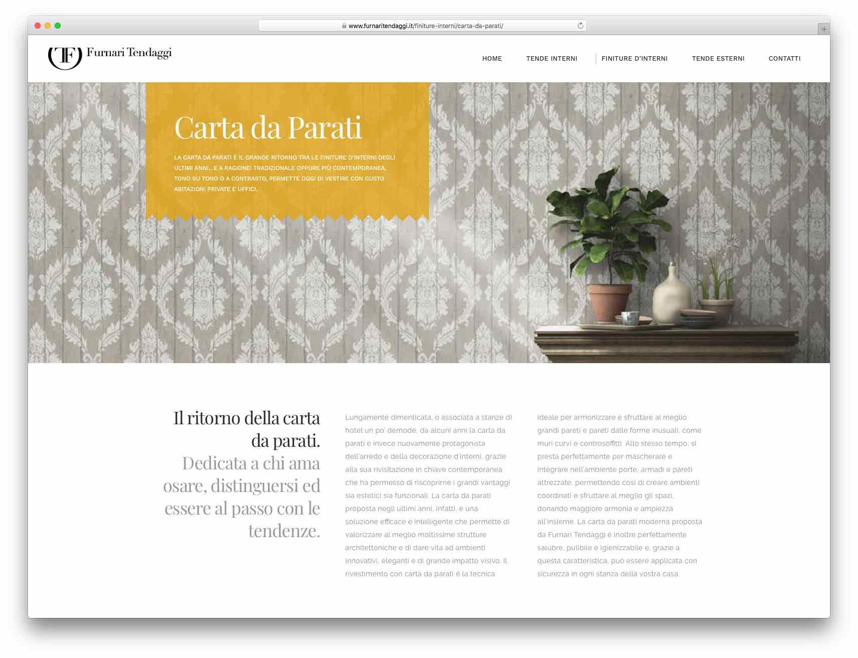 creazione siti web brescia - Agenzia P - sito web Furnari Tendaggi
