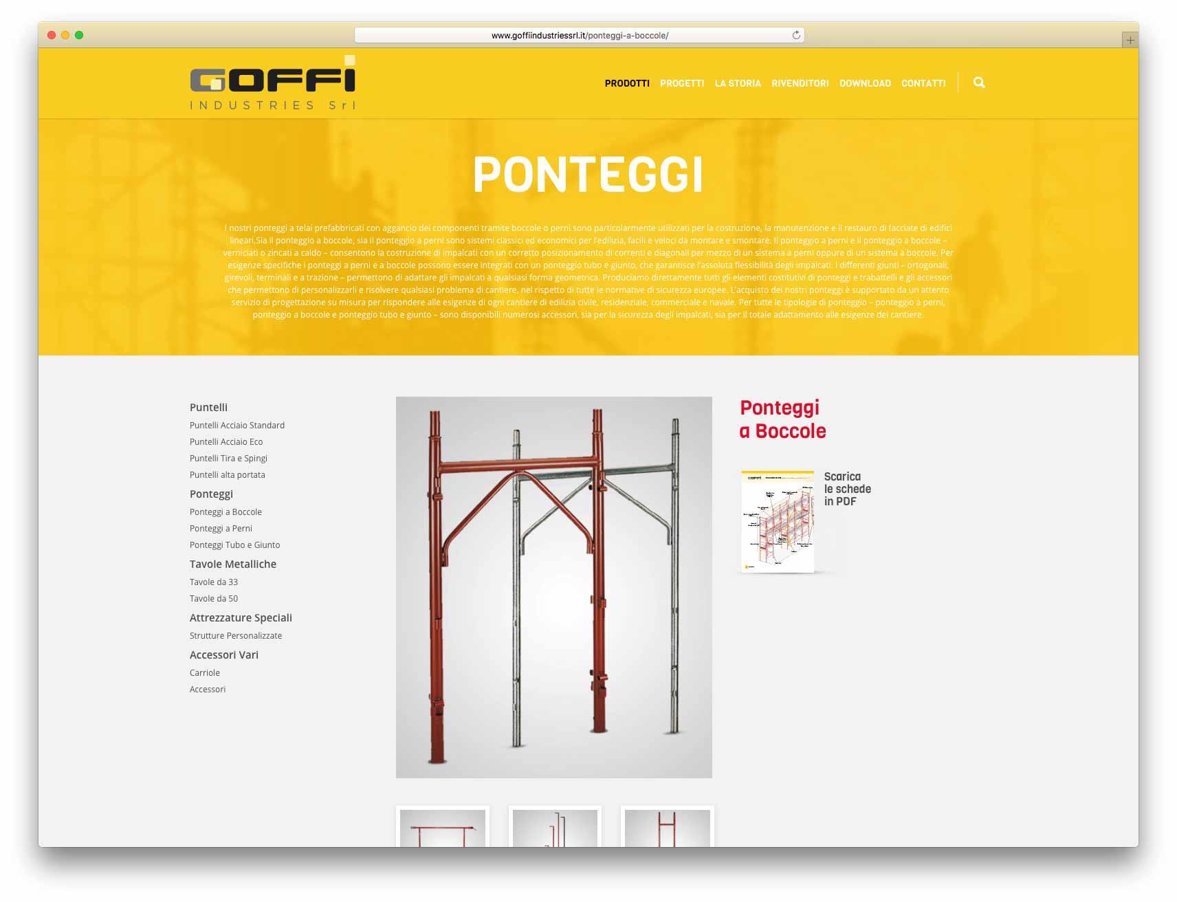 creazione siti web brescia - Agenzia P - sito web Goffi Industries