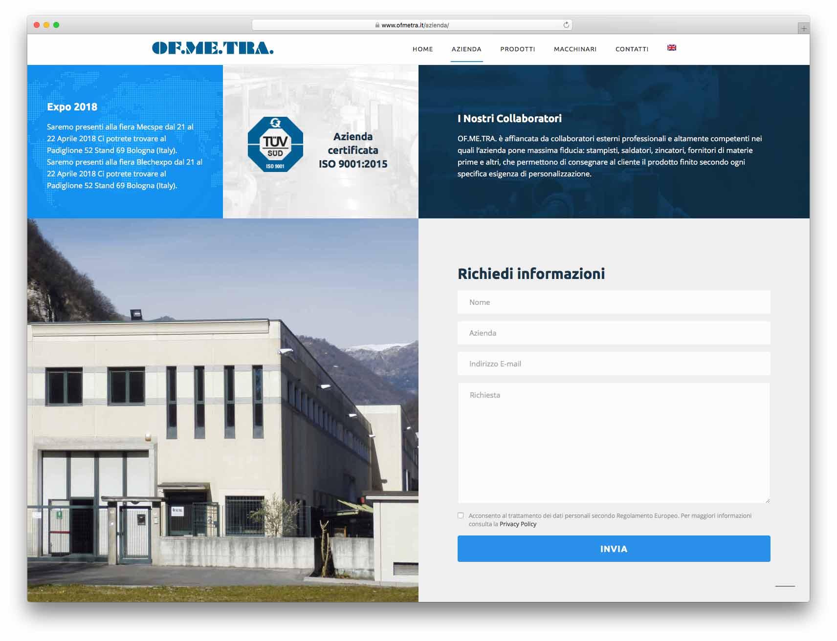 creazione siti web brescia - Agenzia P - sito web Of.me.tra