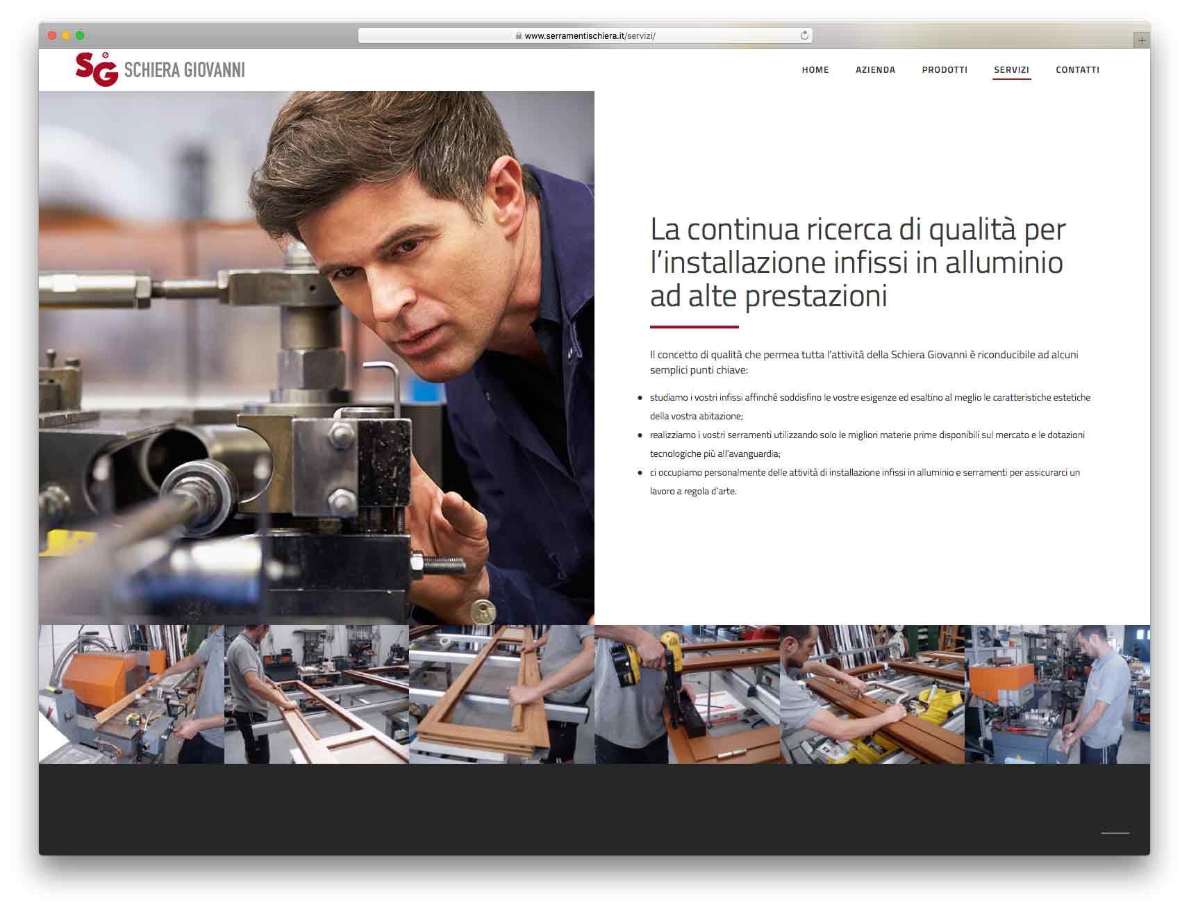 creazione siti web brescia - Agenzia P - sito web Schiera Giovanni