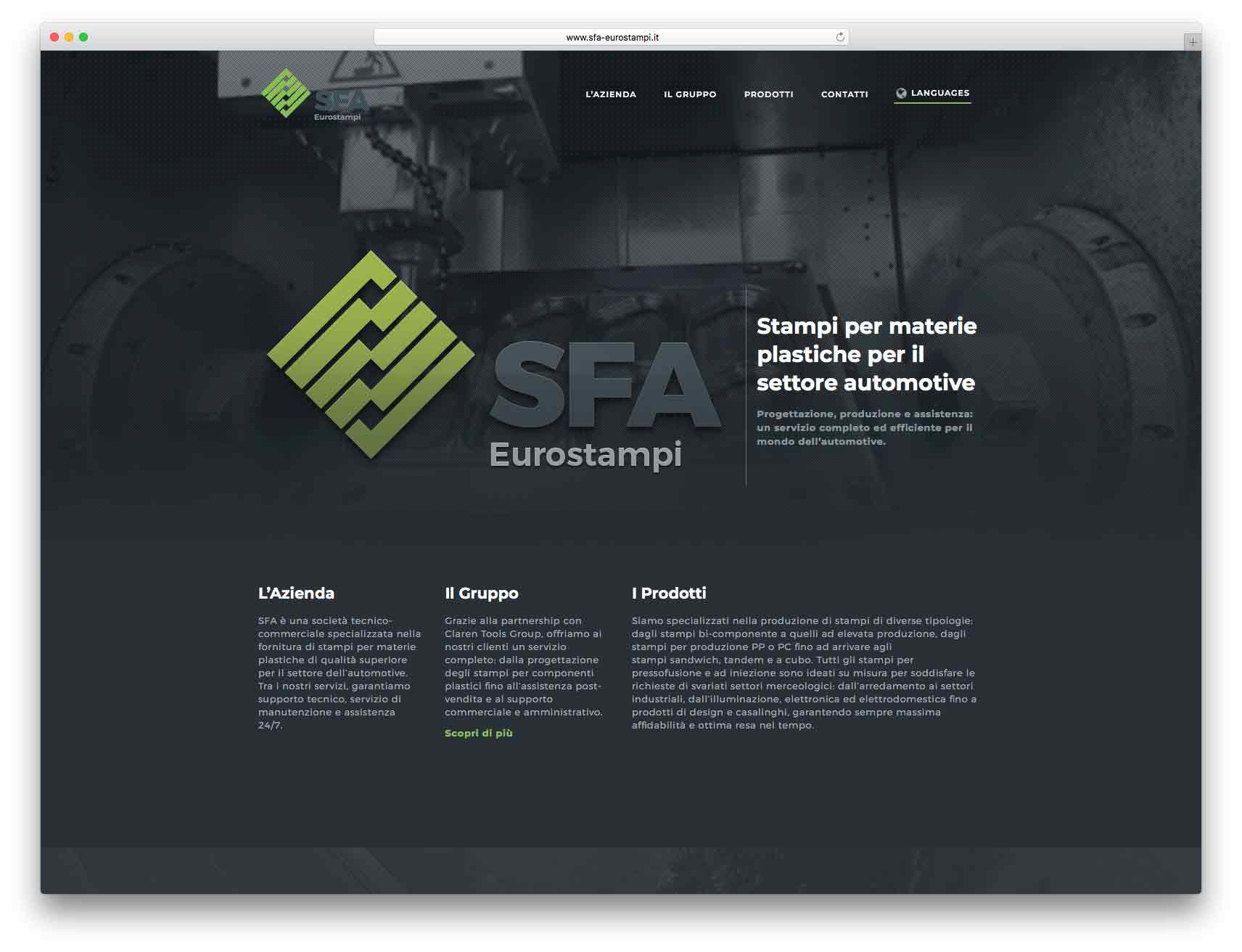 creazione siti web brescia - Agenzia P - sito web SFA Eurostampi