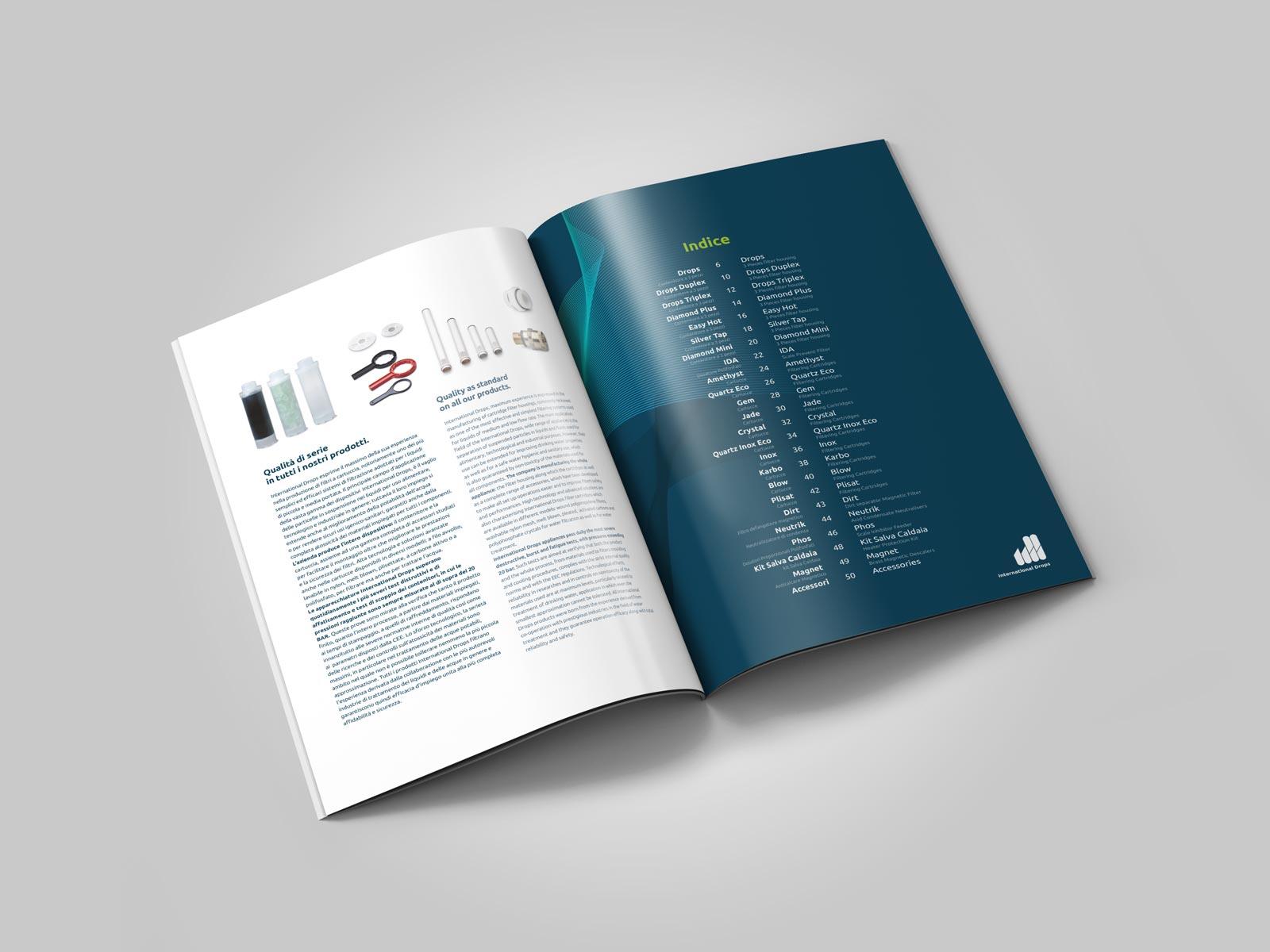 Realizzazione Cataloghi | Agenzia P | Brescia | International Drops