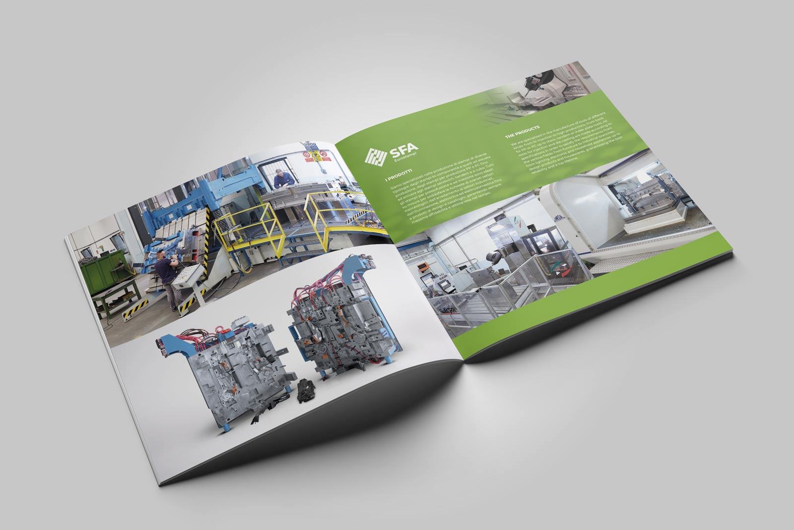 SFA Eurostampi | Realizzazione Brochure | | Agenzia P | Brescia
